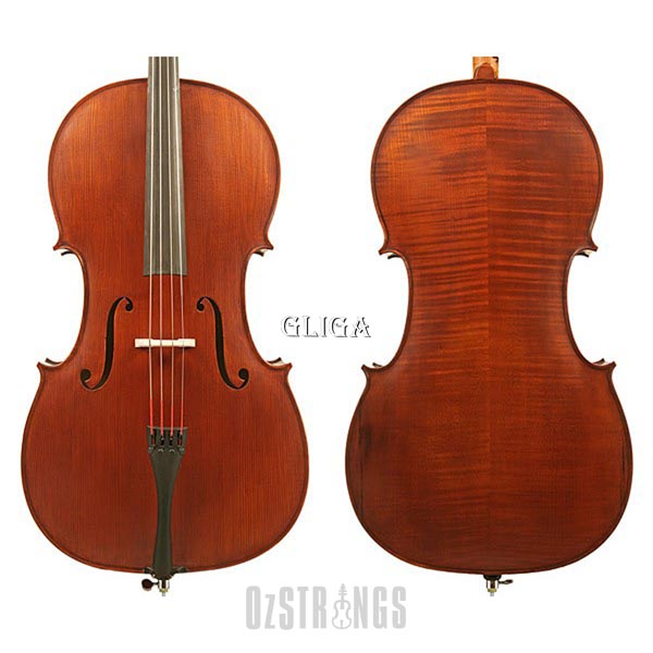 Gliga I Dark Antique Cello Outfit - 4/4 Size