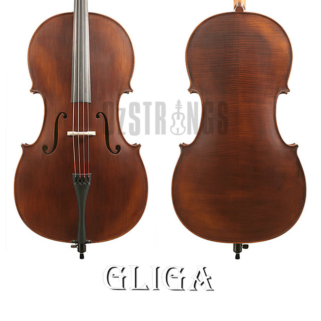 Gliga II Dark Antique Cello Outfit - 4/4 Size