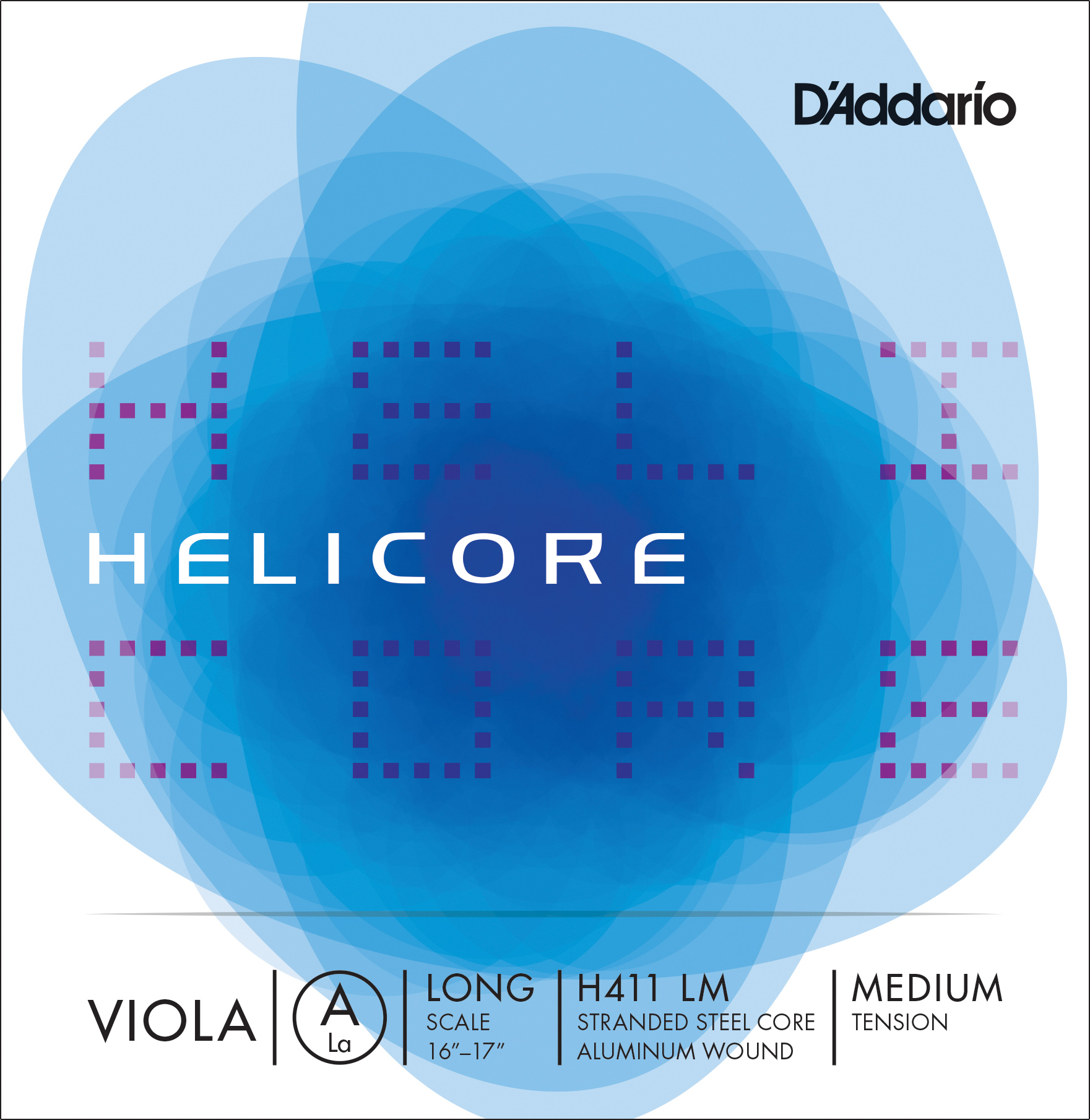 D'Addario Helicore Viola Single A String, Long Scale, Medium Tension