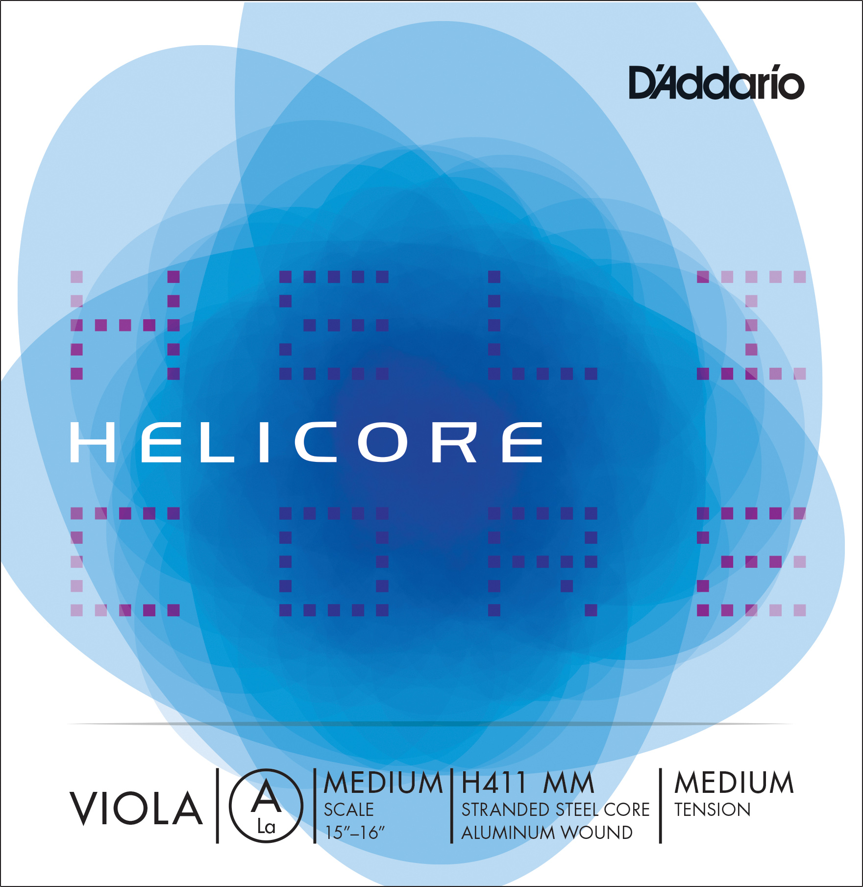 D'Addario Helicore Viola Single A String, Medium Scale, Medium Tension