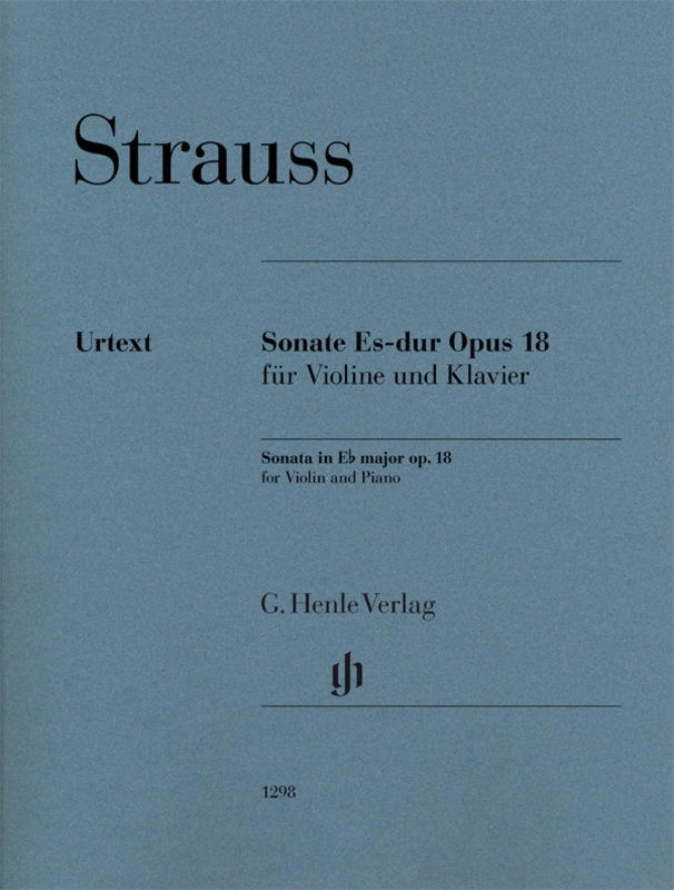 STRAUSS - SONATA E FLAT MAJOR OP 18 VIOLIN/PIANO