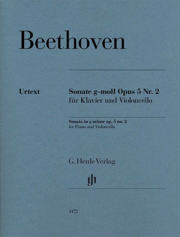 BEETHOVEN - SONATA G MINOR OP 5 NO 2 CELLO/PIANO