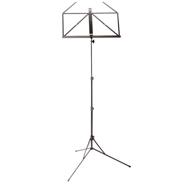 K&M 101 Compact Black Music Stand With Carry Bag