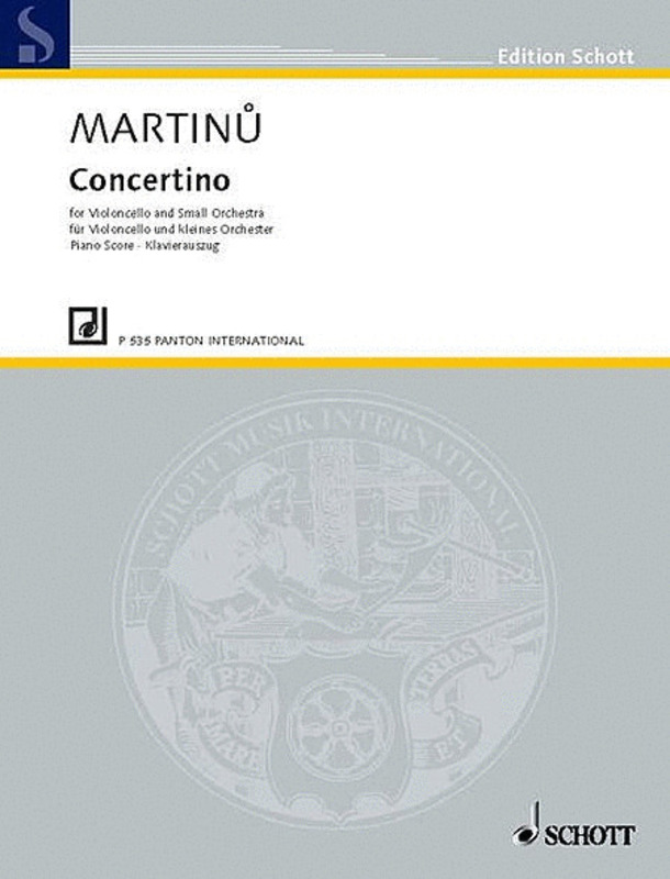 MARTINU - CONCERTINO FOR CELLO/PIANO