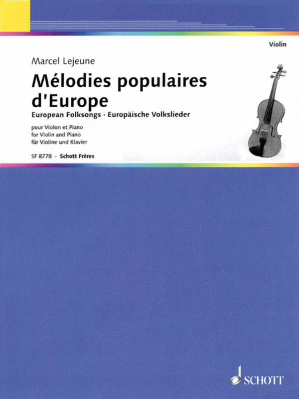 EUROPEAN FOLKSONGS FOR VIOLIN/PIANO