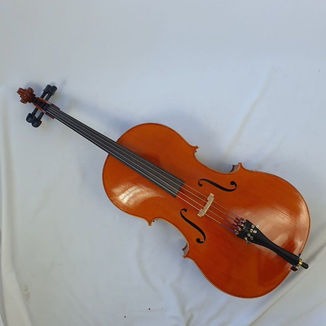 Used Unbranded Cello 3/4 - Includes Case and Bow